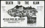 Death to the Klan flyer