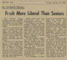Frosh More Liberal Than Seniors