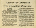 Anonymous Communist Tries To Explain Dedication