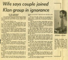 Wife says couple joined Klan group in ignorance