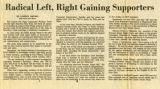 Radical Left, Right Gaining Supporters