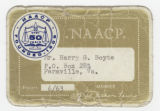 [National Association for the Advancement of Colored People (NAACP) membership card]