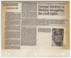 George Simkins: a lifetime struggling for civil rights