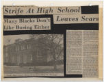 Strife at High School Leaves Scars: Many Blacks Don't Like Busing Either