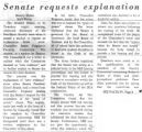 Senate requests explanation