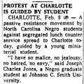 Protest At Charlotte Is Guided By Student