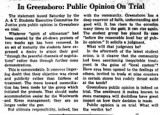 In Greensboro: Public Opinion On Trial