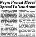 Negro Protest Moves Spread to New Areas
