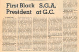 First Black S.G.A. President at G.C.
