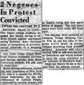 2 Negroes in Protest Convicted