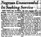 Negroes Unsuccessful in Seeking Services