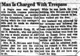 Man Is Charged with Trespass