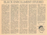 Black Enrollment Studied