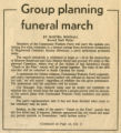 Group planning funeral march