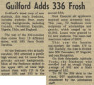 Guilford Adds 336 Frosh
