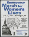 Emergency March for Women's Lives [flier]