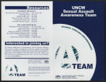 UNCW Sexual Assault Awareness Team [flier]