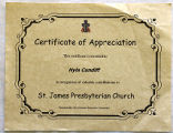 [Certificate of appreciation for Hyla Cundiff]