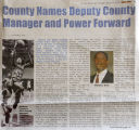 [County Names Deputy County Manager]
