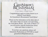 [Flier for Greensboro bicentennial]