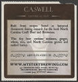 Caswell Historic NC Beer [label]