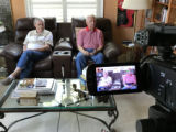 Gary Trowbridge and Frank Bennedett during oral history interview