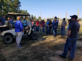 Extension agents visit Hoppin' J's Farm