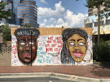 Protest art in downtown Durham, North Carolina