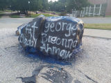 """The Rock"" at UNC Greensboro during Black Lives Matter demonstrations"