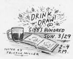 Poster for Drink 'n' Draw event at Gibbs Hundred Brewing Company