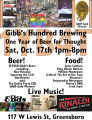 Gibbs Hundred Brewing Company first anniversary poster