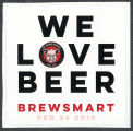Pig Pounder Brewery Brewsmart promotional sticker