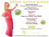 Green Queen Bingo flier, 2016