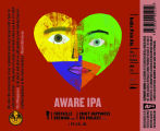 Foothills Brewing Aware India Pale Ale [label]