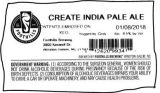 Foothills Brewing Create India Pale Ale [keg label]