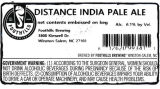 Foothills Brewing Distance India Pale Ale [keg label]
