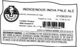Foothills Brewing Indigenous India Pale Ale [keg label]