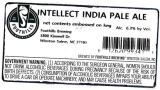 Foothills Brewing Intellect India Pale Ale [keg label]