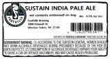 Foothills Brewing Sustain India Pale Ale [keg label]