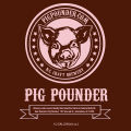 Pig Pounder Brewery Front [1/2 gallon label]