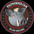 Pig Pounder Brewery Boar Brown Ale [coaster]