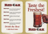 "Red Oak Brewery """"taste the freshest!"""" pamphlet"