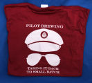 Pilot Brewing Co. red shirt