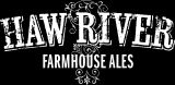 Haw River Farmhouse Ales logo, black and white reverse