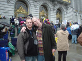 David Gwynn and partner at City Hall during 2004 same-sex weddings