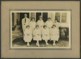 [Dr. John Wesley Long and eight nurses]