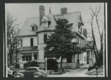 [Photograph of Wesley Long Hospital building on North Elm Street, ca. 1940s]
