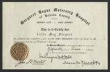 [Nurses certificate of registration for Callie Mae Shepard]