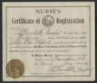 [North Carolina Board of Nurse Examiners registered nurse certification for Callie Mae Shepard]