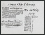 "January 18, 1973--Altrusa Club, Greensboro ""steps toward professionalism"""